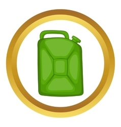 Green fuel canister icon vector