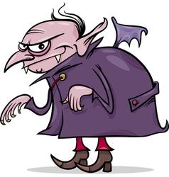 Halloween vampire cartoon vector