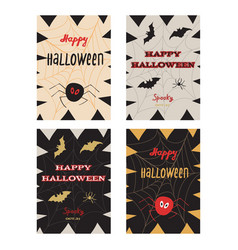 happy halloween poster greeting card vector image