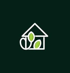 home leaf healthcare creative business logo vector image