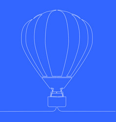 hot air balloon continuous line vector image