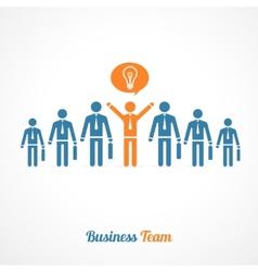 Human symbol teamwork Idea concept vector