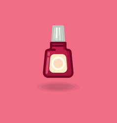 icon of nail polish bubble red vector image