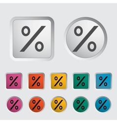 Icon percent sign 2 vector image