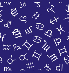 Infinite pattern with zodiac signs seamless vector
