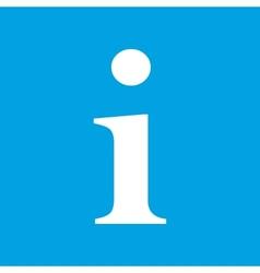 Info white icon vector