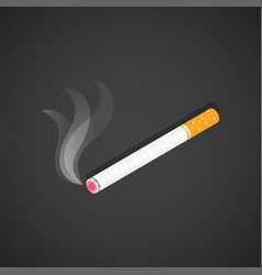 isometric burning usual cigarette vector image