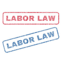 labor law textile stamps vector image
