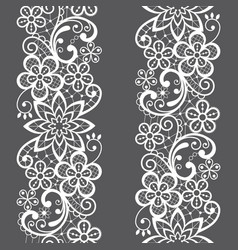 Lace seamless pattern repetitive design vector