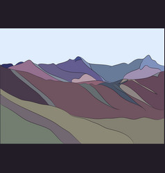 Landscape of mountains vector