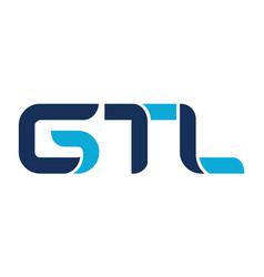 Letter gtl modern vector