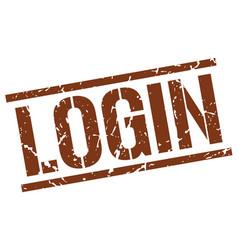 Login stamp vector
