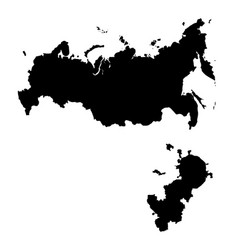 Map russia and moscow country and capital vector