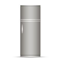 modern silver refrigerator vector image