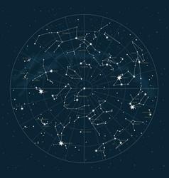 northern hemisphere star map vector image