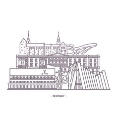 norway historical landmarks vector image