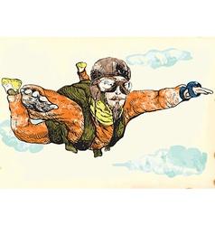 parachutist vector image
