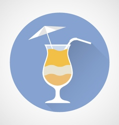 Pina Colada cocktail simple icon vector