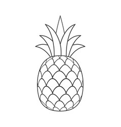 Pineapple line icon design isolated for your vector