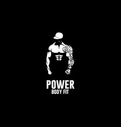power body fit logo vector image