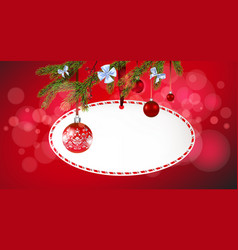 red christmas tree banner vector image