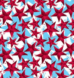 Red stars seamless pattern geometric contemporary vector