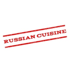 Russian Cuisine Watermark Stamp vector