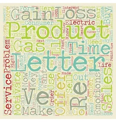 Sales Letters that Sell text background wordcloud vector image