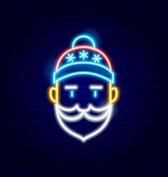 Santa claus neon sign vector