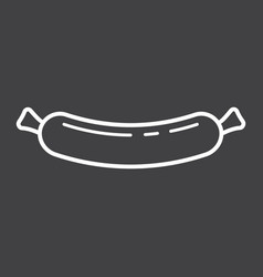 Sausage line icon food and drink frankfurter vector
