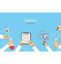 science a vector image