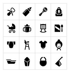 Set icons newborn baby vector