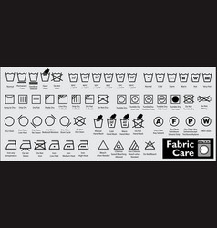 Set of fabric care or washing symbols vector