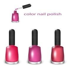 Set of nail polish vector