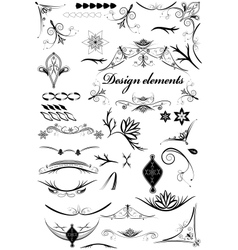 Set of vintage decorative elements vector image