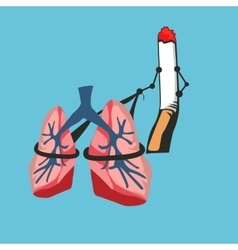 smoke cigarette risk your lungs vector image