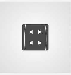 socket icon sign symbol vector image