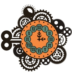 Steampunk mechanical watches vector image