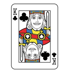 Stylized King of Clubs vector