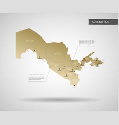 stylized uzbekistan map vector image