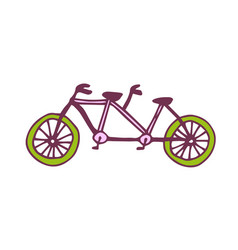 Tandem bike icon travel printed art vector
