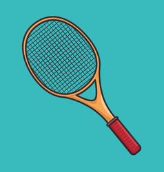 Tennis sport equipment icon vector