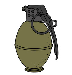 The old hand grenade vector