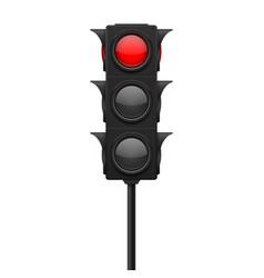 traffic lights red lamp on - traffic prohibited vector image