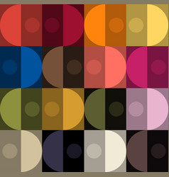 Trendy color seamless patt by plain color patches vector