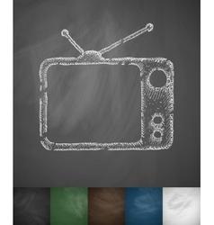 Tv set icon vector