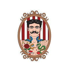Vintage circus collection vector