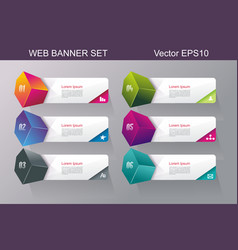 Web banners design vector