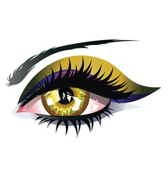 Yellow Eye vector image