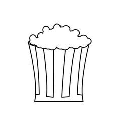 Bucket pop corn food celebration party line vector